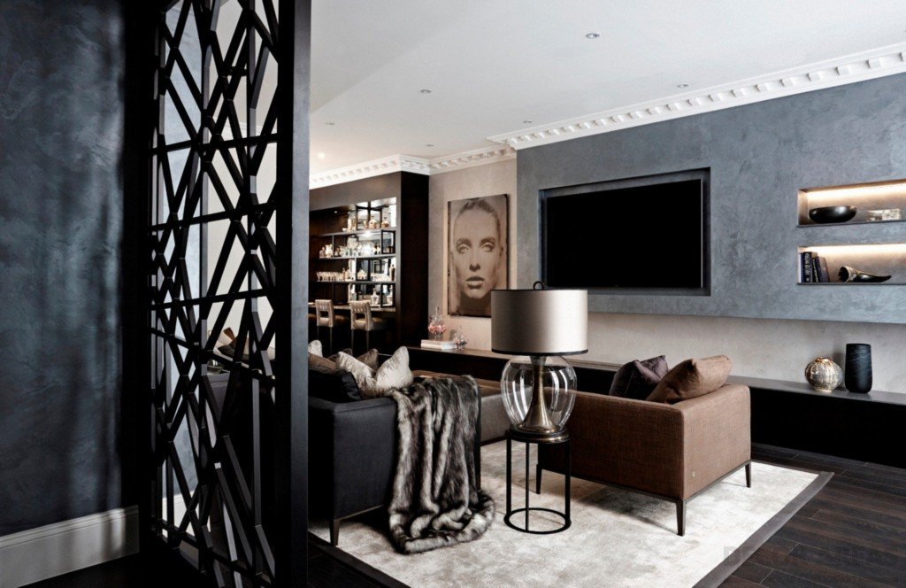 Black Living Room Decoration