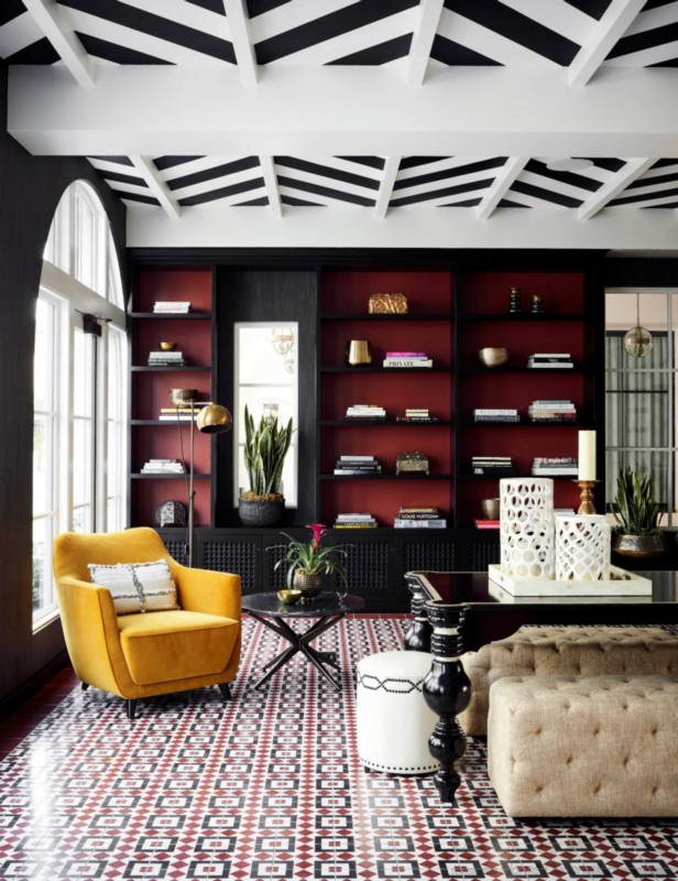 Black And Red Living Rooms