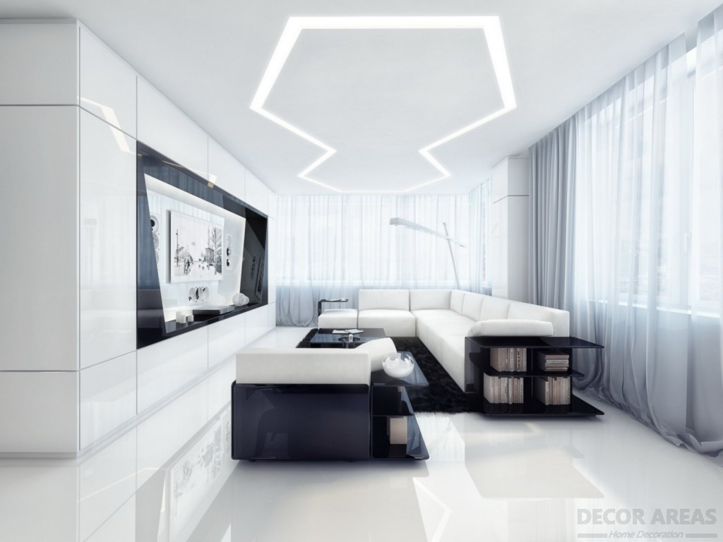Harmony of Natural Colors On Black And White Decoration