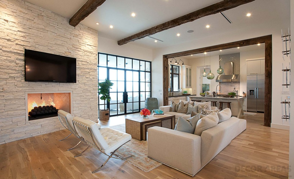Brick Wall Applications in Living Rooms