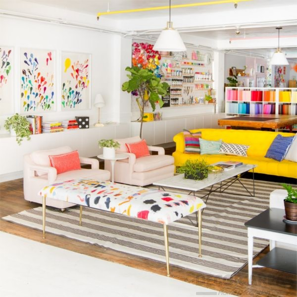 Colorful Living Room Support Colors With Accessories