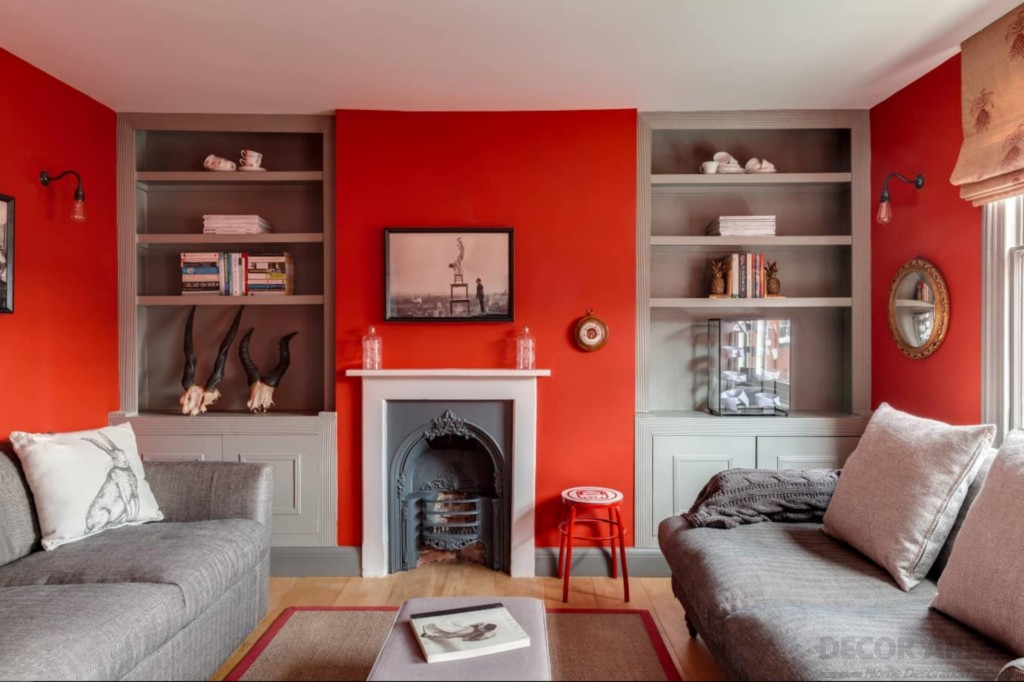 How to Decorate a Red Wall