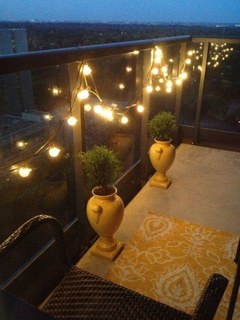 (With led light) Decoration Ideas For A Small Balcony