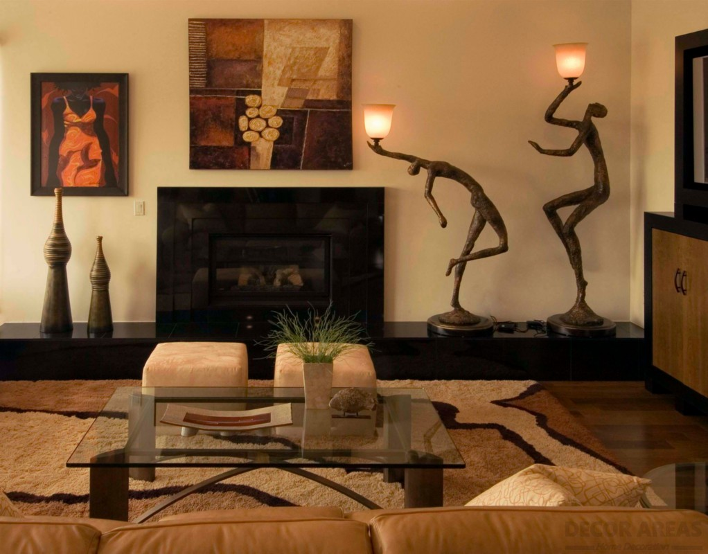 Savannah and Eclectic African Style Living Room